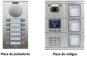 tipos de placas portero electrónico